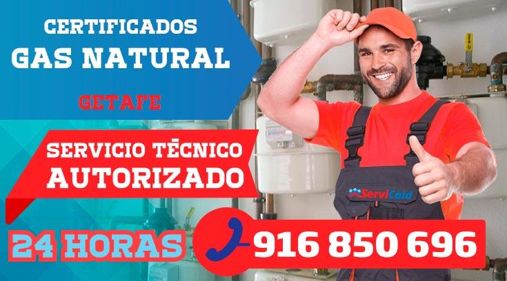 Certificados de gas natural en Getafe
