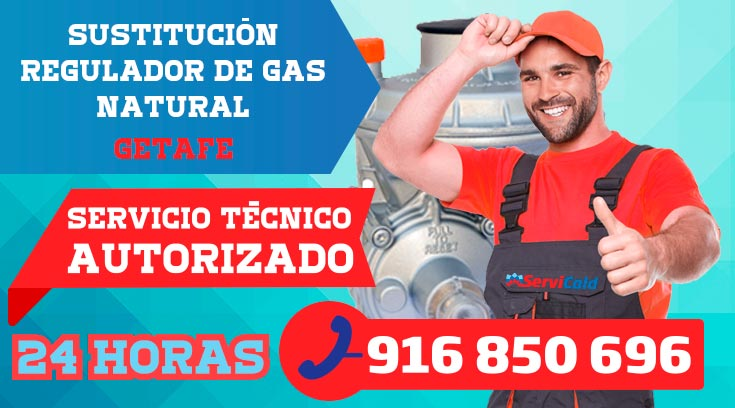 Sustitución regulador de gas natural en Getafe