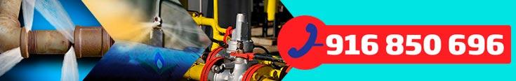 teléfono empresa de reparación de fugas de gas natural en Getafe