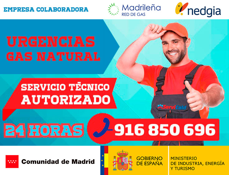 Urgencias de gas natural en Getafe